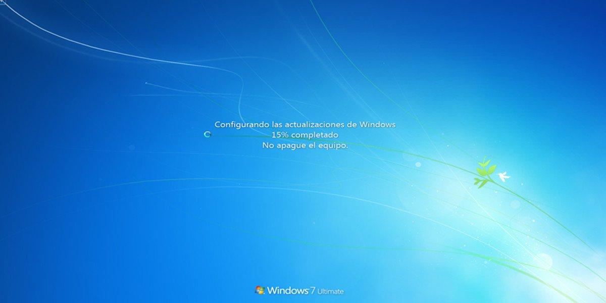 windows 7 actualizando