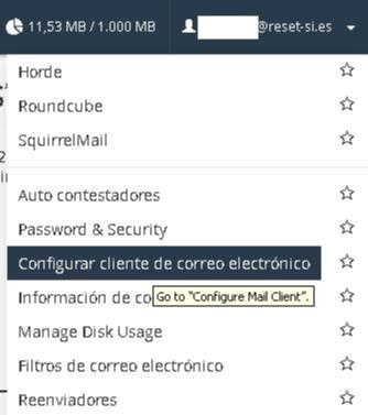 Configurar cliente correo