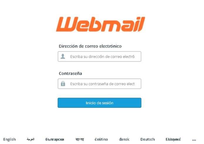 Acceso a webmail